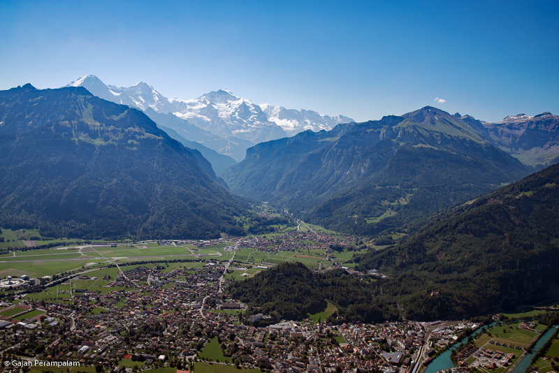 Lauterbrunnen Valley from Harder Kulm, Interlaken, Switzerland