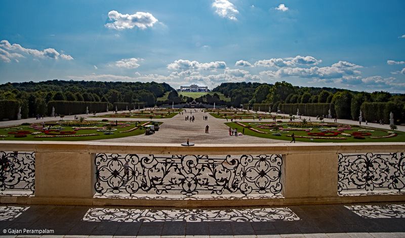 Schönbrunn Palace Gardens and The Gloriette, Vienna, Austria