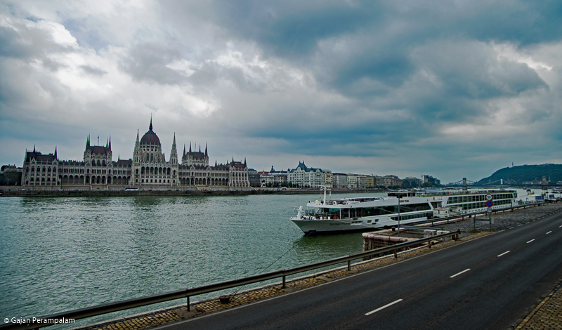 Hungarian Parliament Building along River Danube, Budapest, Hungary