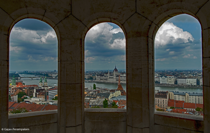 Budapest and Danube River from Fisherman's Bastion, Hungary